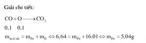 Khử hoàn toàn 6,64 gam hỗn hợp gồm Fe, FeO, Fe3O4, Fe2O3 cần dùng 2,24 lít CO (đktc).