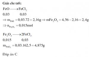 Cô cạn dung dịch Y thu được 3,81 gam muối FeCl2 và m gam FeCl3