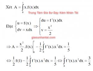 Cho hàm số y = f(x) có đạo hàm lí tưởng trên đoạn [0;1] thỏa mãn f(1) = 1